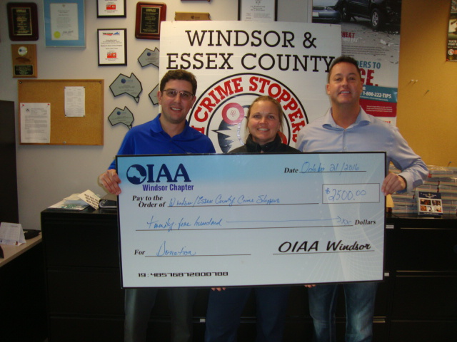 2016 Crime Stoppers Donation - OIAA Golf Chairity Raffle - $2,500